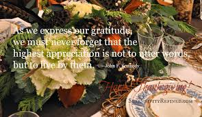 thanksgiving qoute serendipity refined blog 2013
