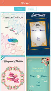 invitation maker app engagement invitation cards maker by bhavik savaliya