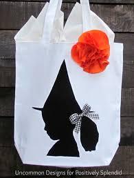custom halloween bags custom silhouette trick or treat bags positively splendid