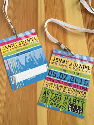 dance festival lanyard wedding invitations with envelopes