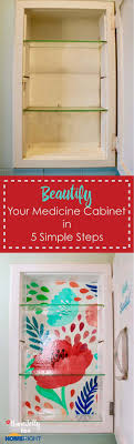 can you paint a metal medicine cabinet beautify your medicine cabinet in 5 simple steps homejelly