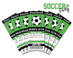 sports ticket invitation football printable template youtuf com