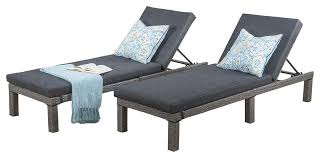 Aluminum Chaise Lounge Venice Outdoor Wicker Chaise Lounge Chairs Set Of 2 Black