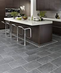 Tiled Kitchen Ideas Alluring Sleek White Ceramic Floor Tile For Contemporary Kitchen