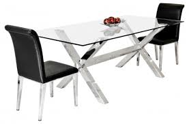 Glass And Chrome Dining Table Crosley Dining Table Crossed Dining Table Criss Cross Dining