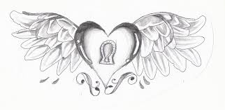 Hearts With Wings - drawings of hearts with wings roadrunnersae