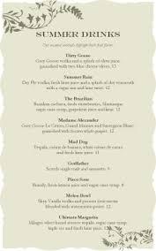 french bistro event menu wedding archive
