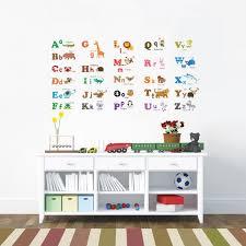 stickers animaux chambre bébé decoration stickers chambre bébé enfant alphabet animaux