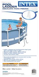 Intex Double Sided Steel Pool Ladder for 52 Inch Ground