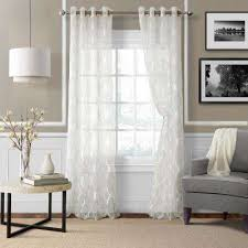 Long White Curtains White Curtains U0026 Drapes Window Treatments The Home Depot