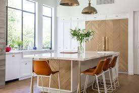 wooden legs for kitchen islands wood herringbone kitchen island with brass legs contemporary