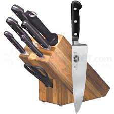 victorinox kitchen knives set victorinox forschner forged cutlery 8 oak block set