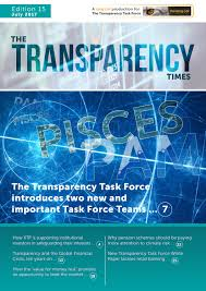 transparency times july 2017 by transparency task force issuu