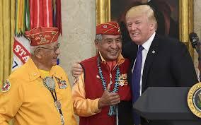 trump u0027s u0027pocahontas u0027 jab stuns families of navajo war vets the