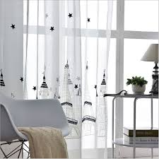 Embroidered Sheer Curtains Translucidus Tulle For Rooms White Modern Window Curtain Design