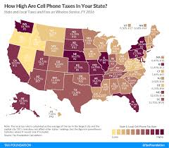 cell phone tax burdens state by state tax foundation