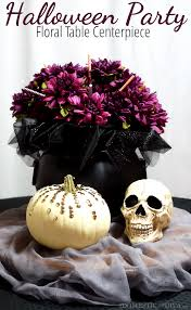halloween floral centerpieces halloween party floral table centerpiece u2013 the domestic diva