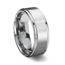 tungsten carbide wedding bands for finish tungsten carbide wedding band step edge