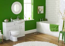 Green Wall Paint Bright Green Wall Paint For Modern Bathroom Design Using White