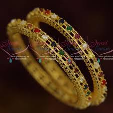 bangle bracelet color gold plated images B12040 ad navratna multi colour stone bangles gold plated JPG