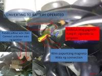 parklight battery driven and headlight stator driven diy diagram