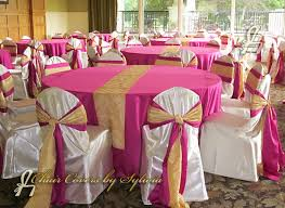 table and chair cover rentals robin blue chair covers with fushia sashes images of chair ties