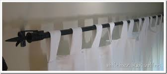 conduit pipe curtain rods white house black shutters