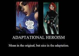Black Widow Meme - adaptational heroism ultimate black widow by jasonpictures on