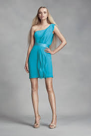 one shoulder unique vw360370 style ruffled bridesmaid dress