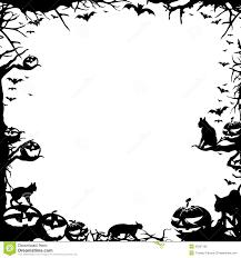 halloween frame border isolated on white stock illustration