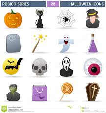 halloween icons set including vary skeleton characters in