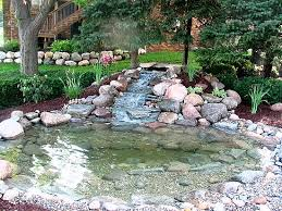 Waterfalls In Backyard Ponds by Ponds And Waterfalls