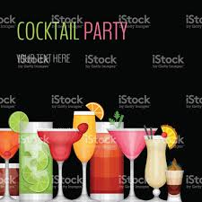 cocktail party card cocktail bar flyer stock vector art 589961682