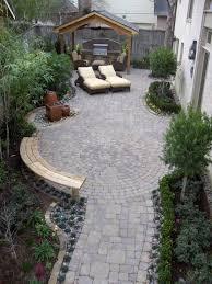 Circular Paver Patio Custom Designed Walkway To Circular Paver Patio With Bench Water
