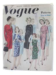 dress pattern without darts vintage 1960 s sewing pattern early 60s vogue pattern no 3010