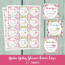boho baby shower printable favor tag bohemian arrow baby shower