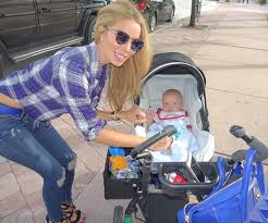 lisa hochstein and baby logan out and about in miami photos