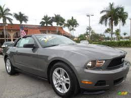 2011 Ford Mustang Black 2011 Ford Mustang V6 Premium Convertible In Sterling Gray Metallic
