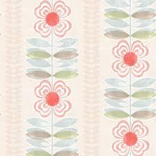 Modern Floral Wallpaper Beacon House Scandinavian Red Block Print Tulip Wallpaper 2535