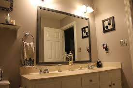 Pictures Of Bathroom Vanities And Mirrors Framed Bathroom Mirrors Signature Hardware Within Vanity Plans 13