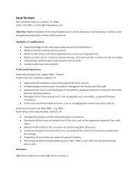 receptionist resume template veterinary receptionist sle resume soaringeaglecasino us
