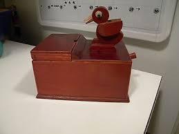bird toothpick dispenser vintage wood dial a pick toothpick dispenser holder diner soda