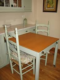 Small Round Kitchen Table For Two by Kitchen Fabulous White Slide Out Small Kitchen Table Painted In