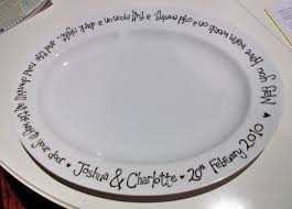 wedding platter wedding blessing pebeo painted platter the make space