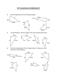 pythagoras worksheet by pfellowes teaching resources tes