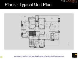 floor plans by address the address one of the plushest properties in pune