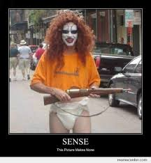 Adult Diaper Meme - clown with diapers and a rifle by ben meme center