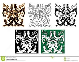Animal Ornaments Wild Dogs Celtic Knot Ornaments Stock Vector Image 57156280
