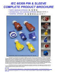 pin u0026 sleeve plug iec 60309 plug 4h 20 ampere 120 volt