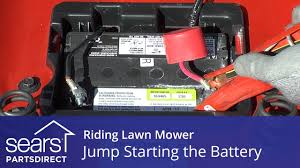 jump starting a riding lawn mower youtube